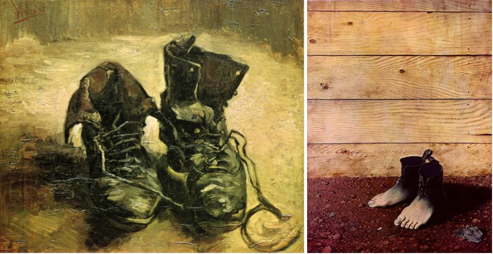 les chaussures de paysannes van gogh